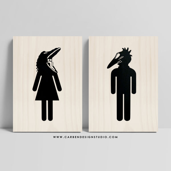 BARBARA & ADAM RESTROOM SIGN: Available in 2 Sizes