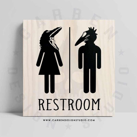BARBARA & ADAM RESTROOM SIGN