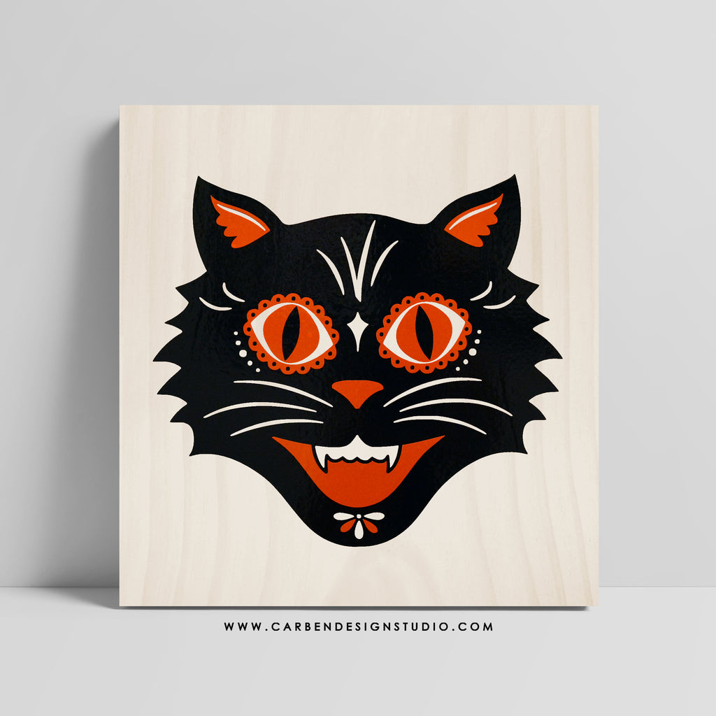 BLACK CAT SIGN: Available in 2 Sizes