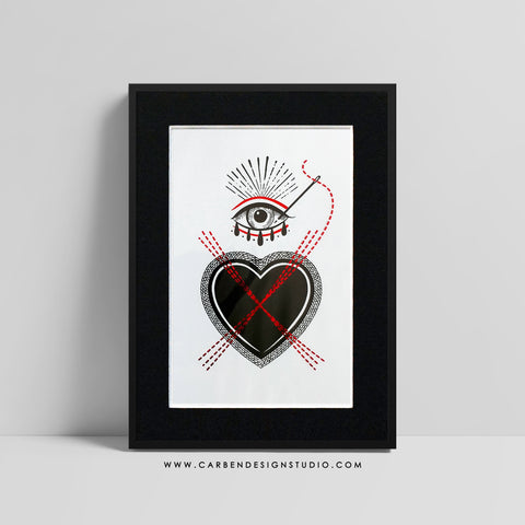 CROSS MY HEART FOIL PRINT