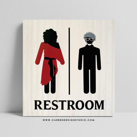 DANA & LOUIS RESTROOM SIGN