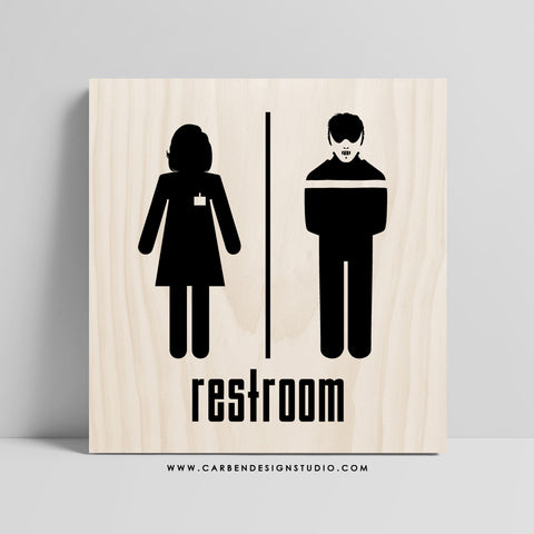 HANNIBAL & CLARICE RESTROOM SIGN