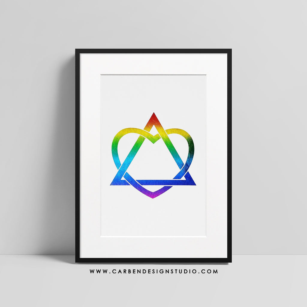 ADOPTION FOIL PRINT: Available in Rainbow Foil