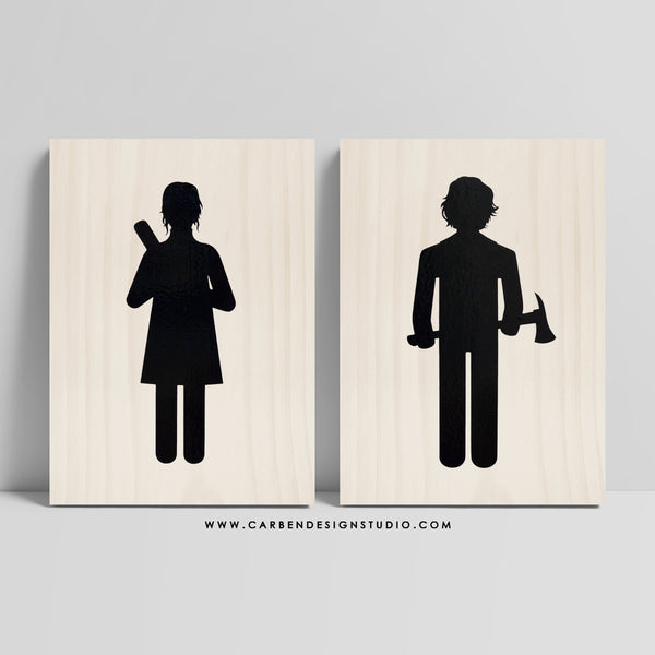 JACK & WENDY RESTROOM SIGN: Available in 2 Sizes