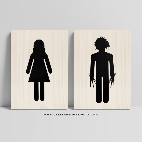 KIM & EDWARD RESTROOM SIGN: Available in 2 Sizes