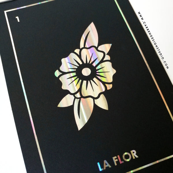 CARBEN DESIGN STUDIO LOTERIA FOIL PRINT: Prints #1 through #4