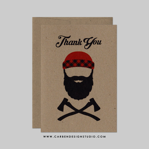 LUMBERJACK THANK YOU CARD