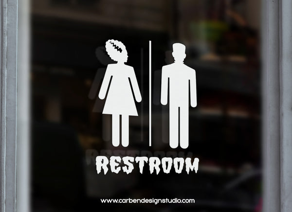 MONSTER & HIS BRIDE RESTROOM DECAL