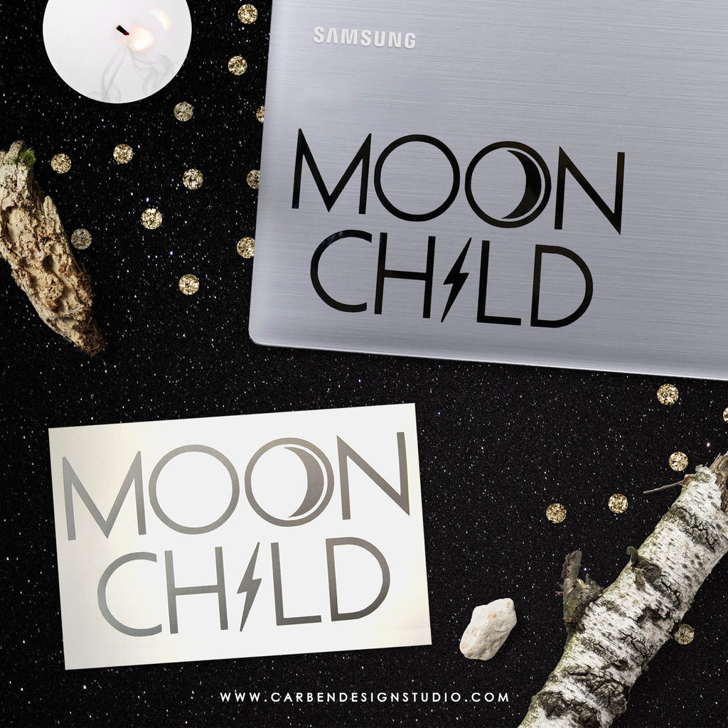 MOON CHILD VINYL DECAL: Available in 2 Colors