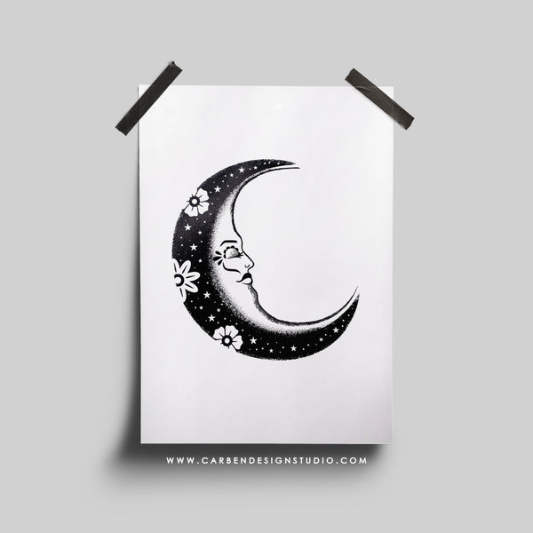 MOON FOIL PRINT: Available in 2 Colors