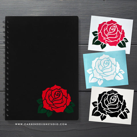 ROSE VINYL DECAL: Available in 6 Colors