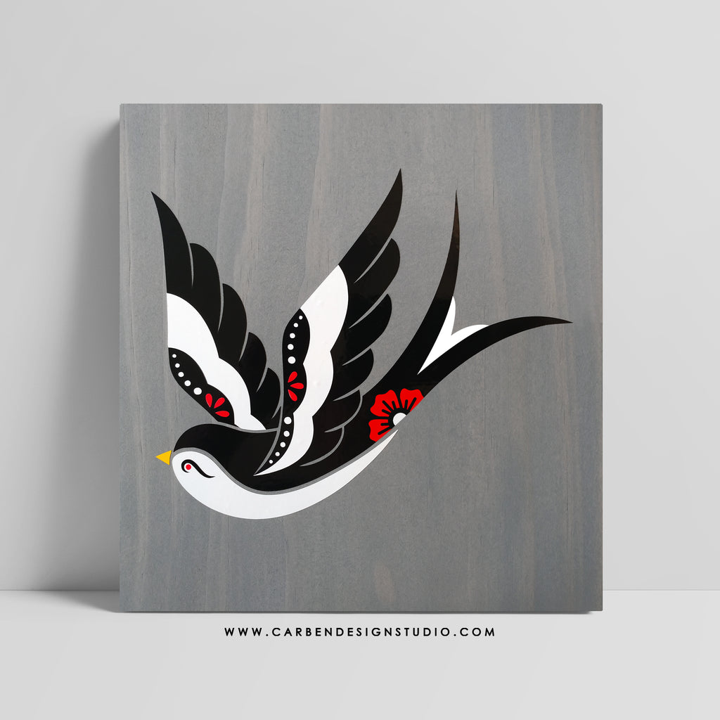 SWALLOW SIGN: Available in 2 Sizes