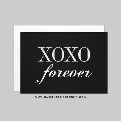 XOXO FOREVER GREETING CARD