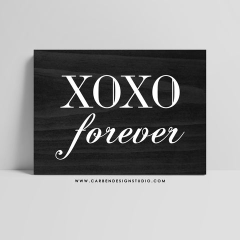 XOXO FOREVER SIGN