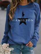 Autumn New Letter Printing Casual Long-sleeved Top