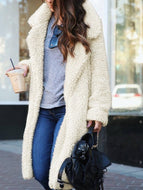 Autumn/Winter Fashion Street Lapel Long Sleeve Mid-length Coat