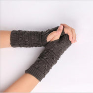 Knitted Warm Half-finger Computer Gloves