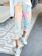 Tie-dye Printed High-waisted Small-leg Casual Pants