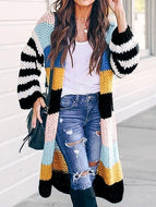 Casual Hit Color Sweater Coat