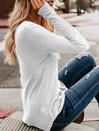 Autumn Women's Casual V-neck Long Sleeve Shirt