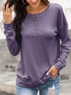 2020 Women Autumn and Winter New Round Neck Long Sleeve Casual Loose Sweater
