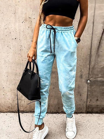 Loose Lace-up Leggings Slacks