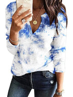Tie-dye Round Neck Long Sleeve T-shirt