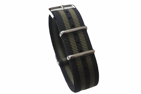 20mm NATO Strap - Black & green