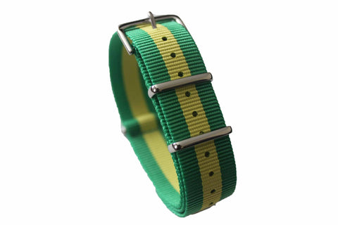 20mm NATO Strap - Green Yellow
