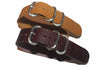 20mm Handmade Genuine Calf Leather Zulu Watch Strap - Light Brown - Watch Aficionado 24 - 3