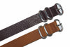 20mm Handmade Genuine Calf Leather Zulu Watch Strap - Light Brown - Watch Aficionado 24 - 4
