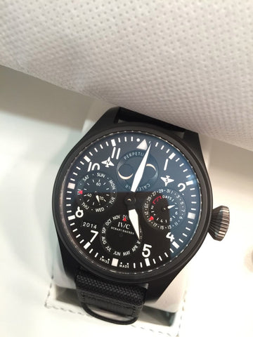 Pre Owned IWC Big Pilot Perpetual Top Gun Black Dial 5029-02- Excellent Condition