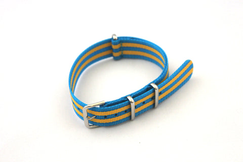 18mm NATO Strap - Baby Blue Yellow