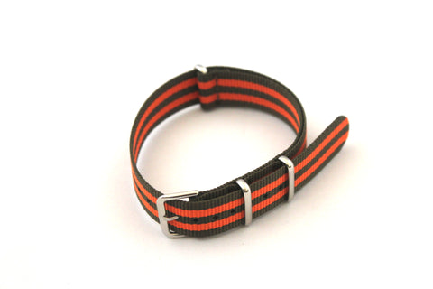 18mm NATO Strap - Green Orange