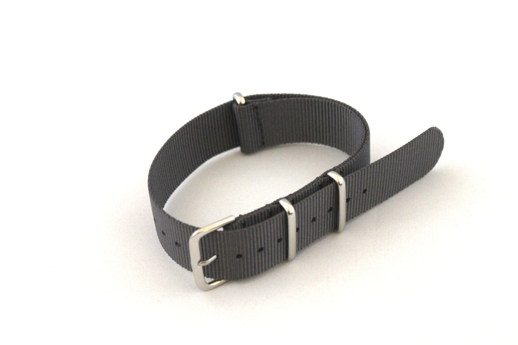 18mm NATO Strap - Grey - Watch Aficionado 24 - 1