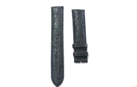 20mm Genuine Handmade Ostrich Skin Watch Straps - Black