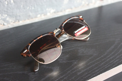 Retro Style Sunglasses - #1501 Brown Black