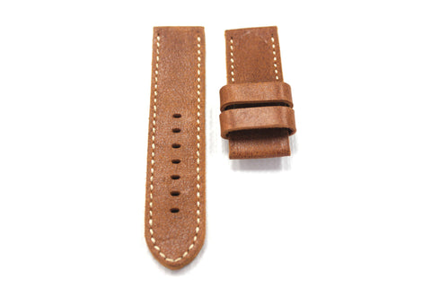 26mm Genuine Leather Watch Strap - Brown #1730