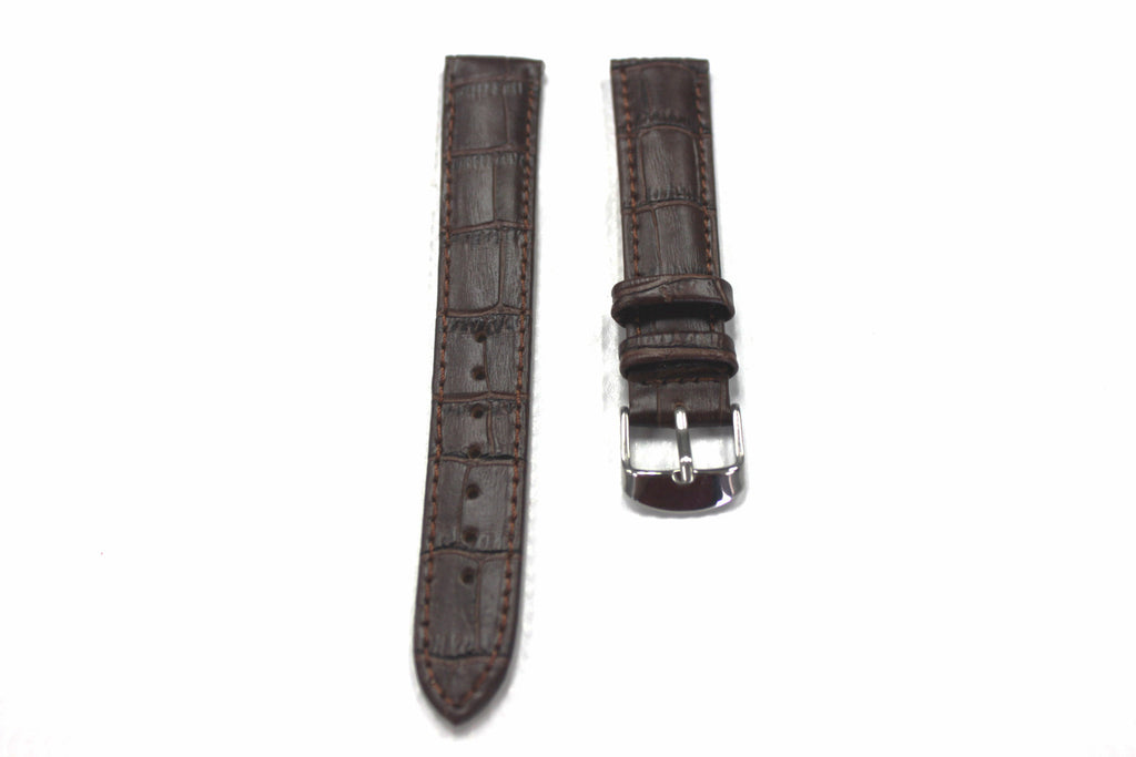 20mm Genuine Alligator Pattern Watch Straps Bands with Stainless Steel Buckle - Watch Aficionado 24 - 1