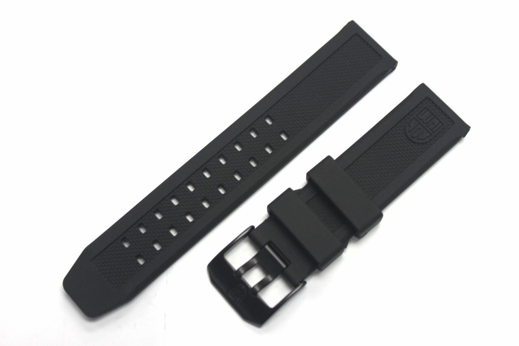 Genuine FP.L.ES 23mm Luminox Rubber Band - Black with PVD Black Buckle - Watch Aficionado 24 - 1