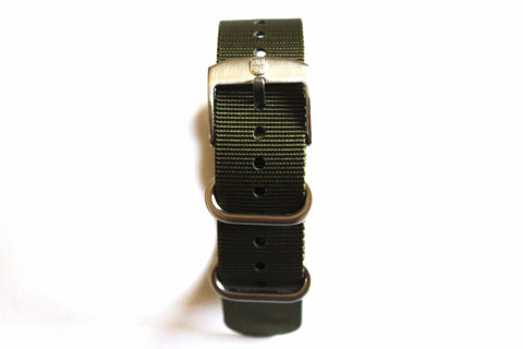 Genuine FN.3900.60.2 Luminox 22mm NATO/ Zulu Strap Band - Military Green