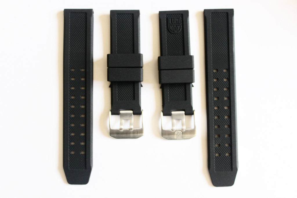 Luminox Straps Combo Deal - 23mm FP.L.ES & 23mm No Logo Luminox Rubber Replacement Strap - Watch Aficionado 24 - 1