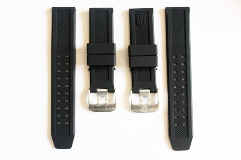 Luminox Straps Combo Deal - 23mm FP.L.ES & 23mm No Logo Luminox Rubber Replacement Strap