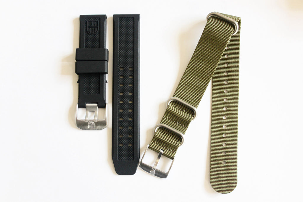 Luminox Straps Combo Deal - 23mm FP.L.ES & Luminox 22mm Green NATO Strap - Watch Aficionado 24 - 1