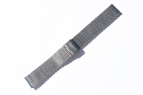 22mm Stainless Steel Shark Mesh Heavy Duty Milanese Bracelet Watch Band