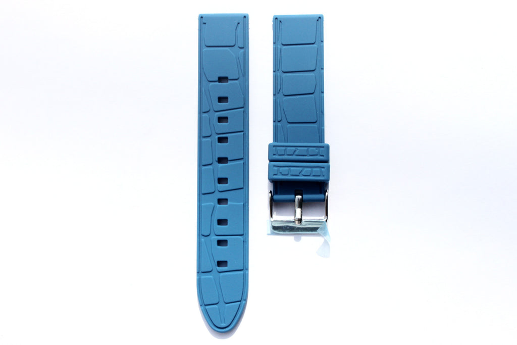 20mm Silicone Rubber Strap - Blue - Watch Aficionado 24 - 1