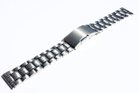 22mm Polish Stainless Steel Watch Band Bracelet Watch Strap with Deployment Clasp ESS02