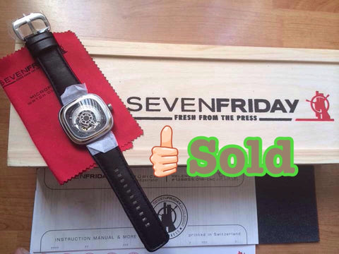 Brand New SevenFriday Industrial Engines P1 Stainless Steel