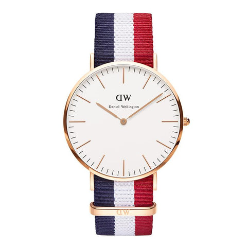 Daniel Wellington Men's 0103DW Classic Cambridge Analog Display Quartz Multi-Color Watch