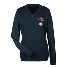 Load image into Gallery viewer, Maritime Plus - Harriton Pilbloc V-Neck Sweater, Navy